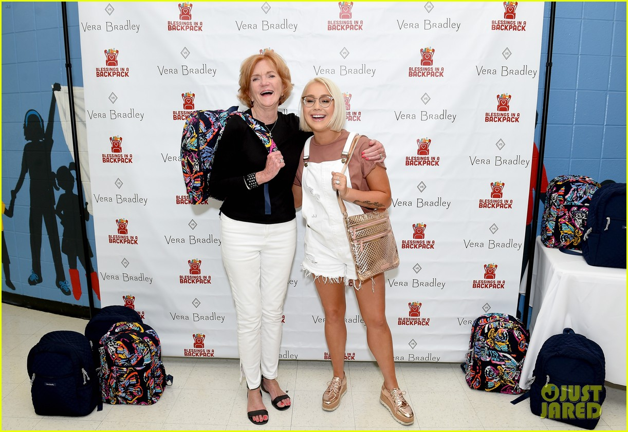 jason aldean and brittany host vera bradley x blessings in a backpack event 21