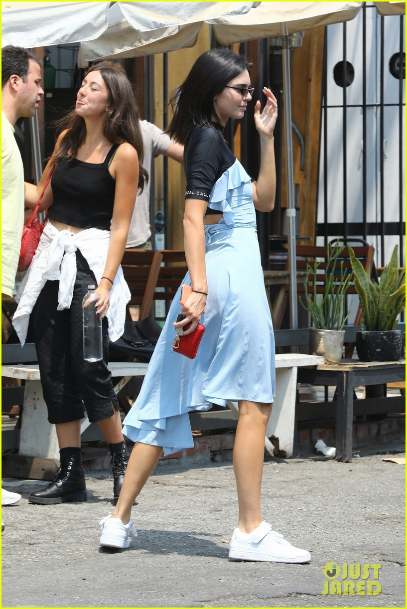 kendall jenner shows off her summer style in baby blue dress 05