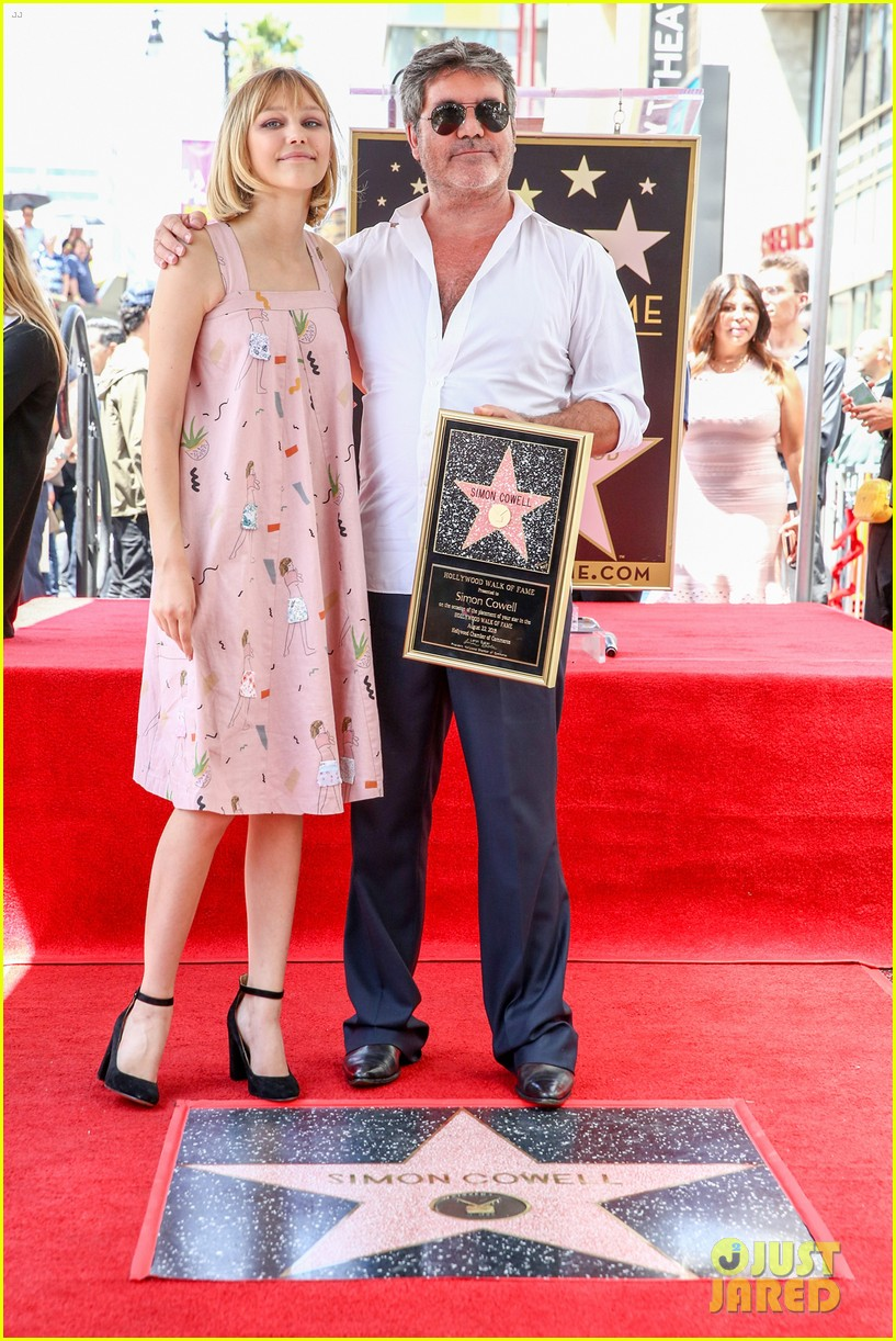 louis tomlinson grace vanderwaal step out for simon cowell walk of fame ceremony 04