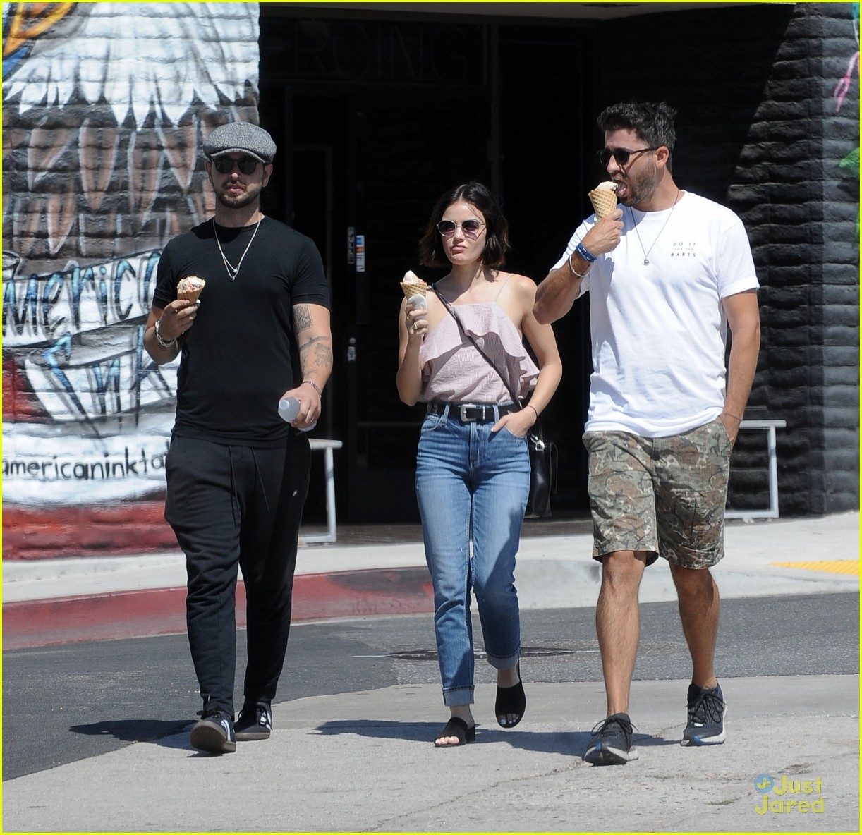 lucy hale ryan rottman ice cream date dinner 06