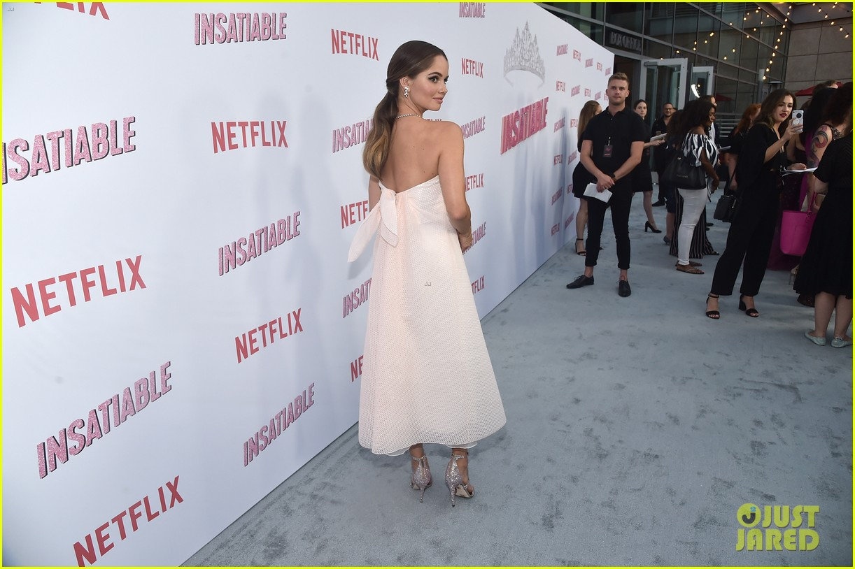 debby ryan and alyssa milano premiere insatiable in hollywood 17
