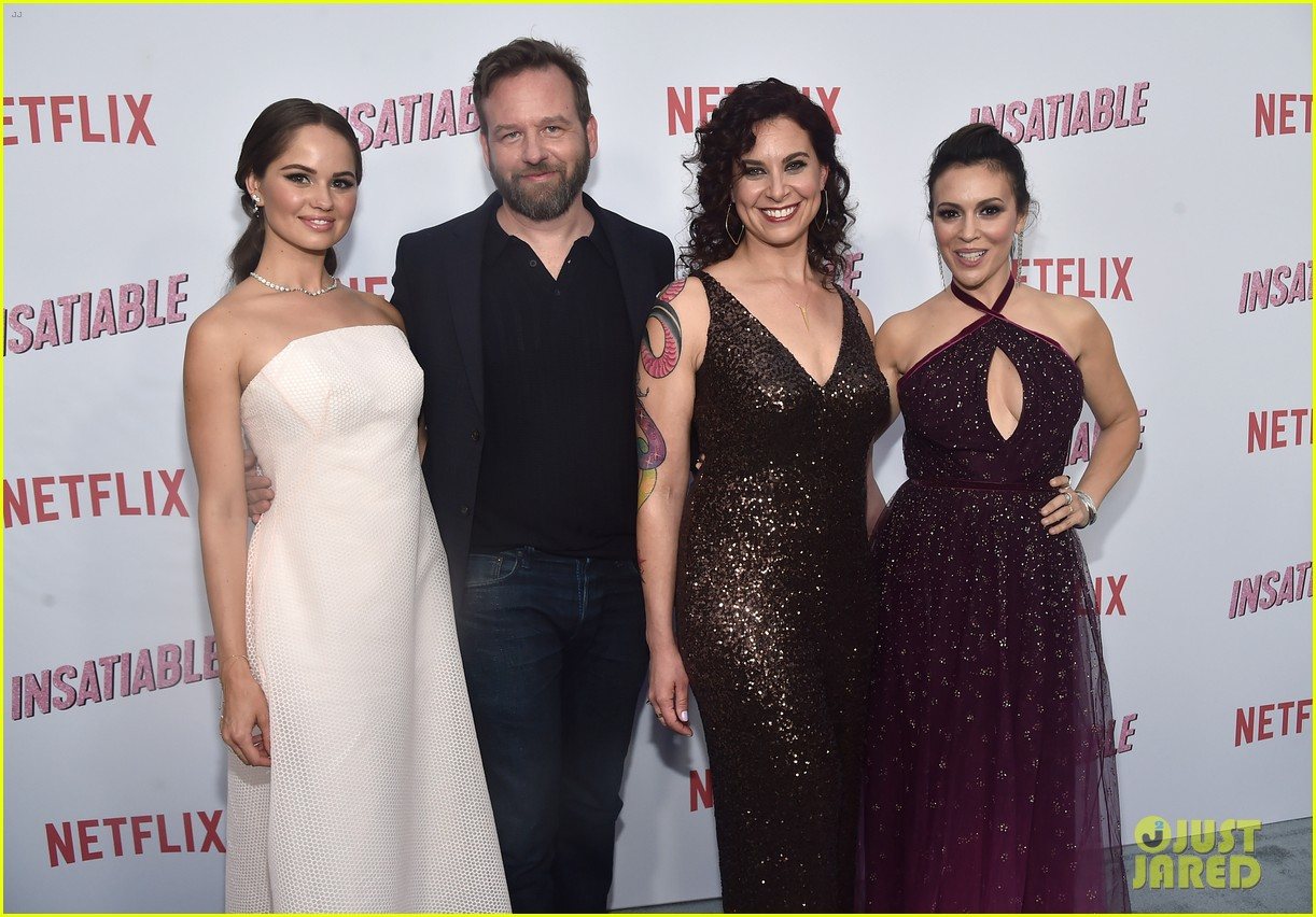 debby ryan and alyssa milano premiere insatiable in hollywood 34