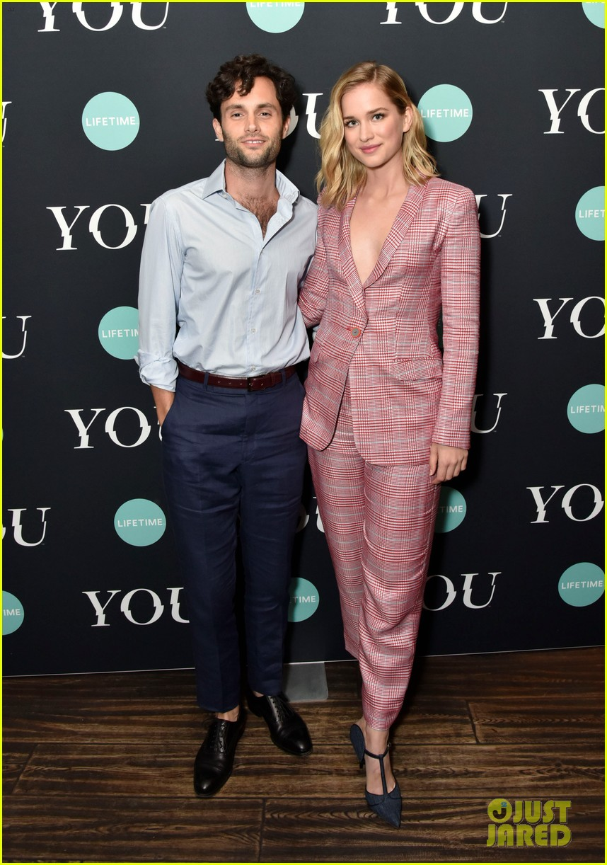 penn badgley elizabeth lail and shay mitchell look stylish at you series premiere 09