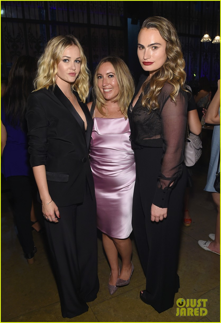 penn badgley elizabeth lail and shay mitchell look stylish at you series premiere 33