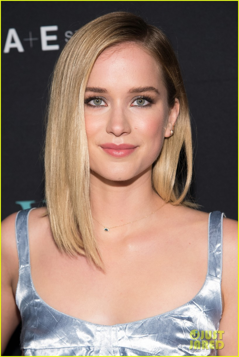 penn badgley elizabeth lail and shay mitchell look stylish at you series premiere 37