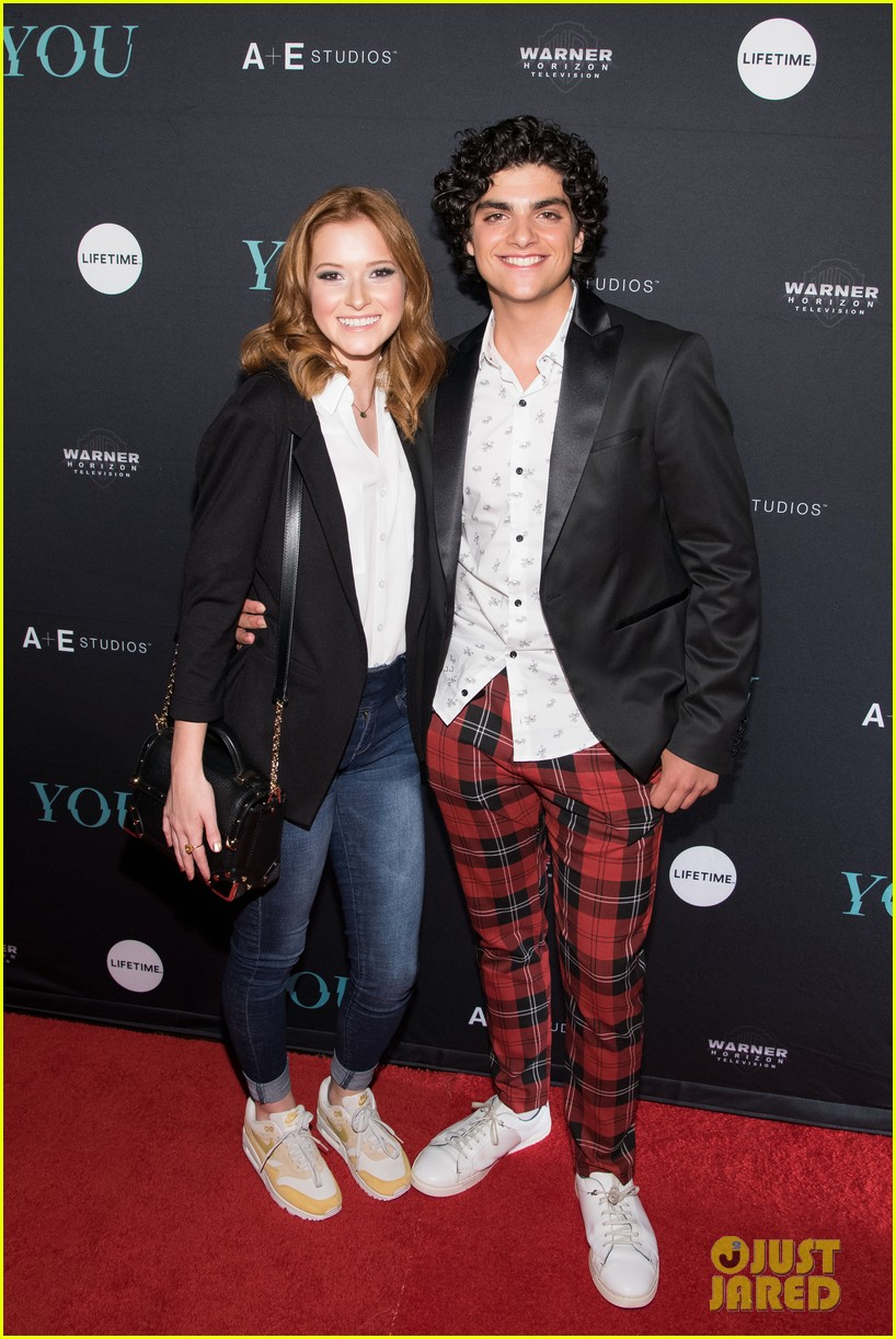 penn badgley elizabeth lail and shay mitchell look stylish at you series premiere 40