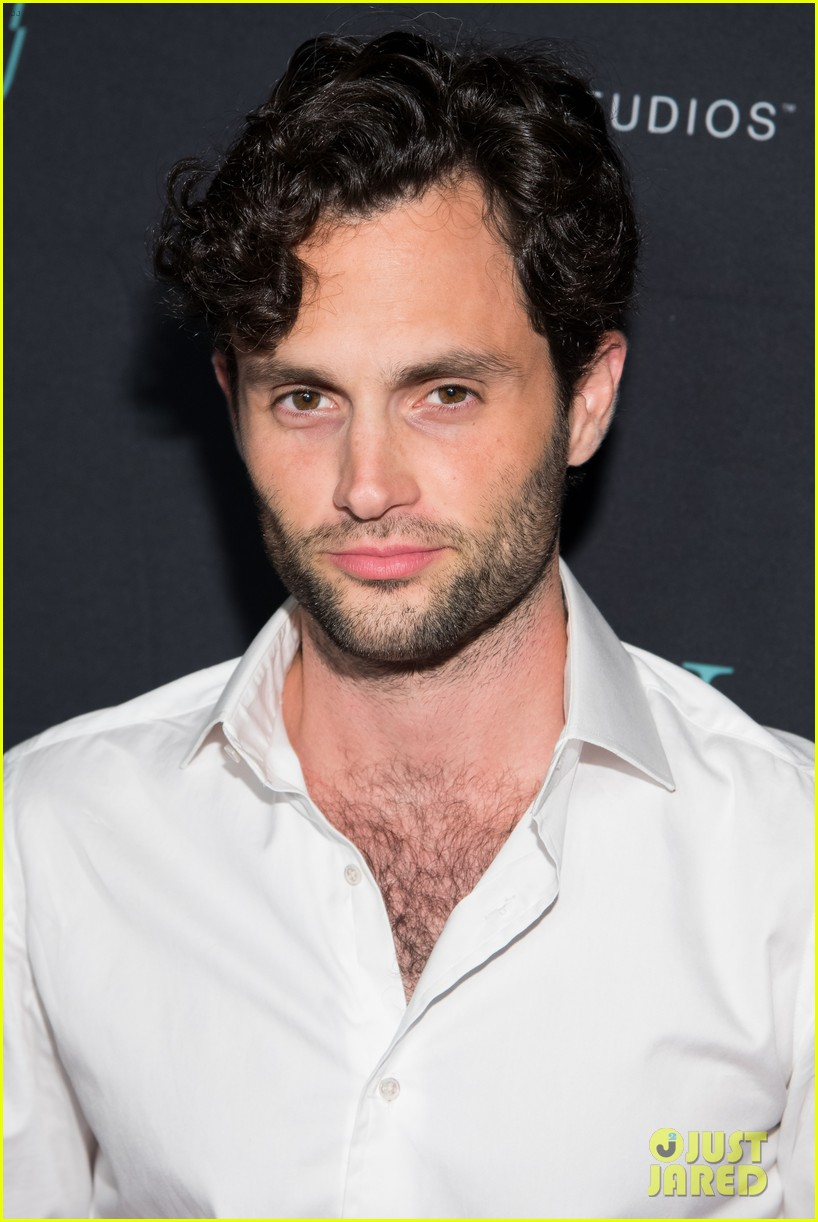 penn badgley elizabeth lail and shay mitchell look stylish at you series premiere 47
