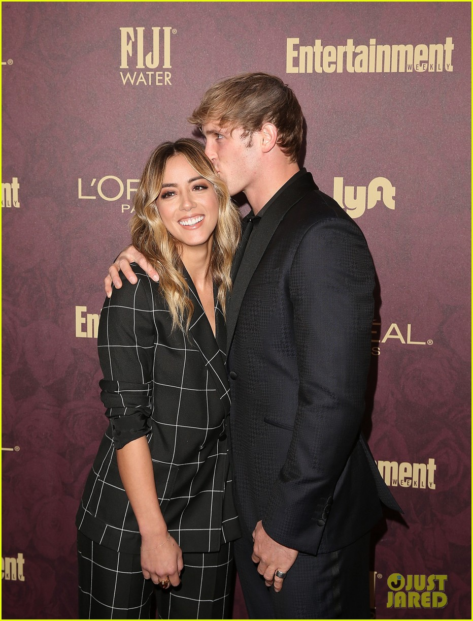 chloe bennet logan paul show affection at ew pre emmys party 03