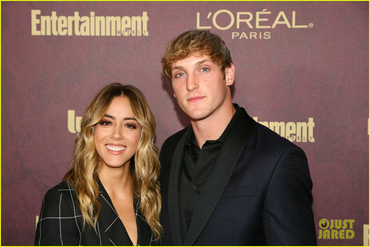 chloe bennet logan paul show affection at ew pre emmys party 14