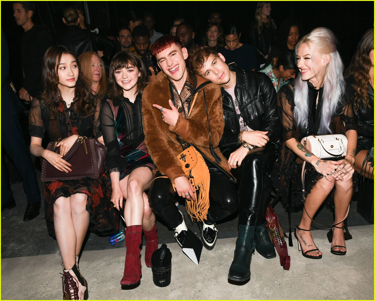 4fbe9cfe961a4 Tommy Dorfman & Kaia Gerber Look Chic at Coach Show During New York ...