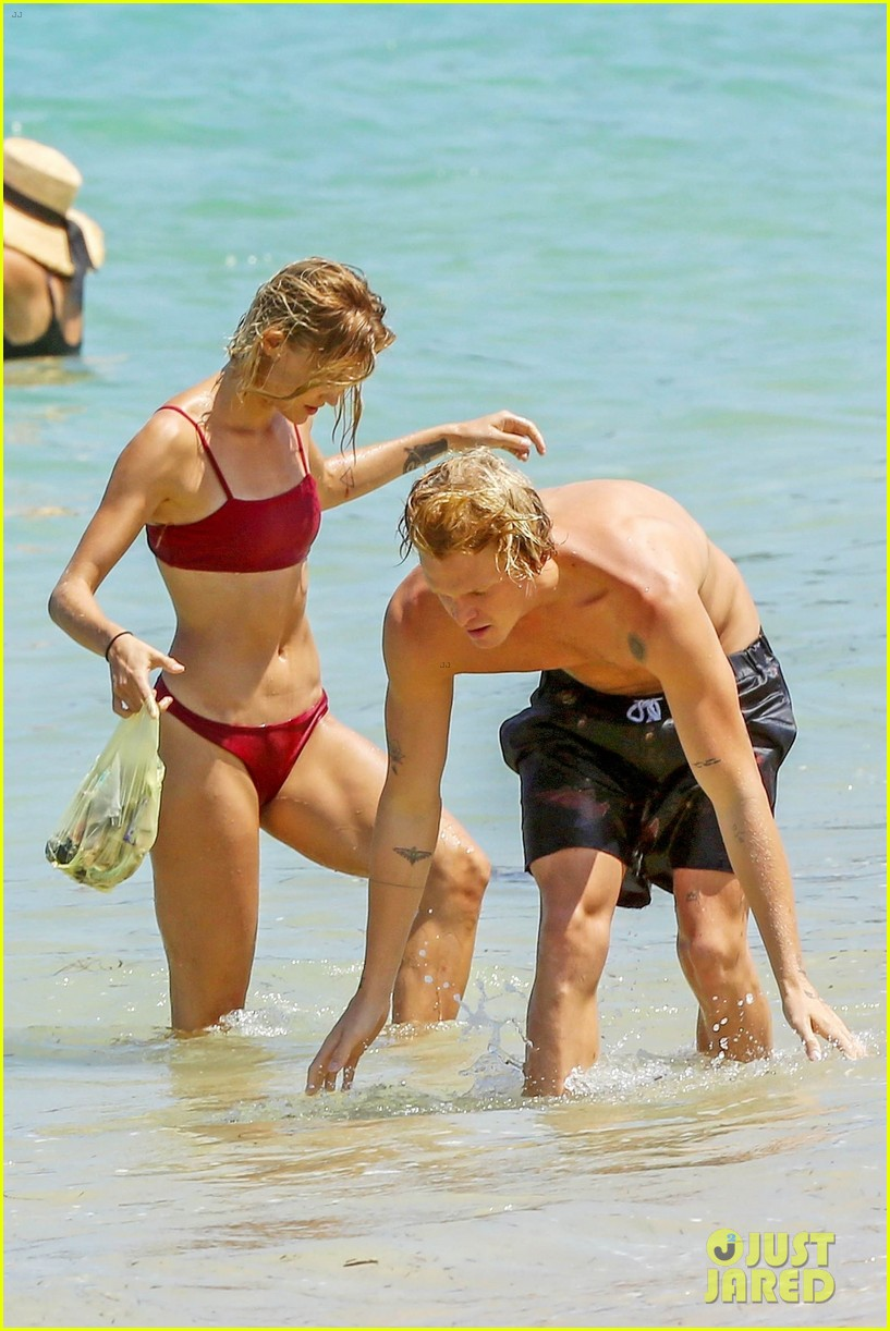 cody simpson hits the beach with girlfriend clair wuestenberg 51