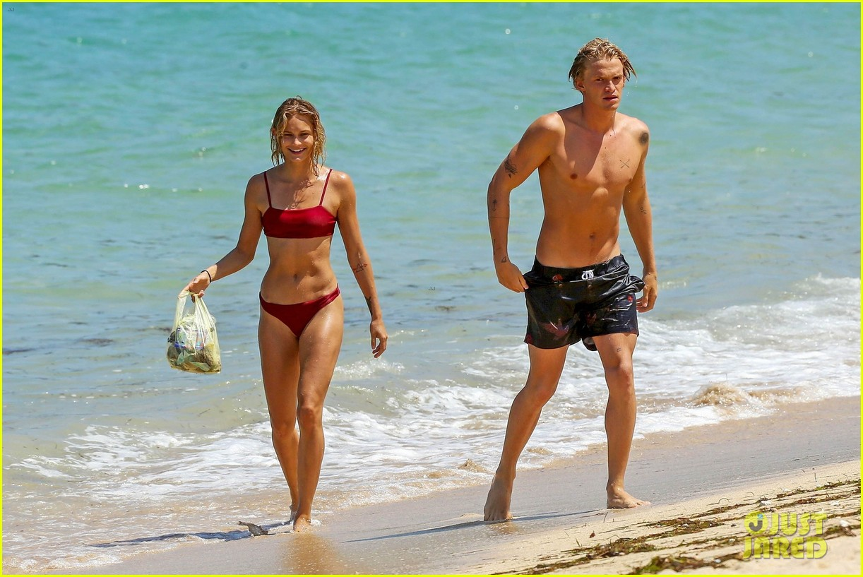 cody simpson hits the beach with girlfriend clair wuestenberg 55