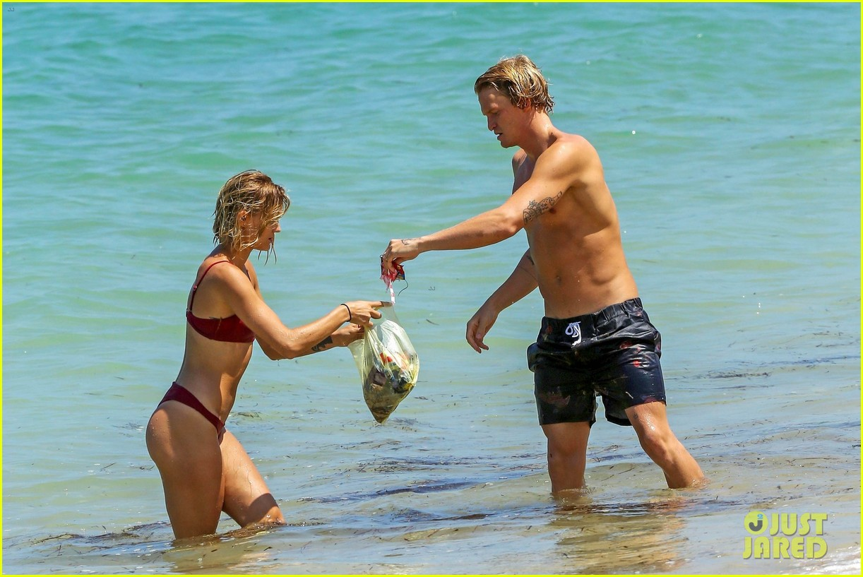 cody simpson hits the beach with girlfriend clair wuestenberg 58