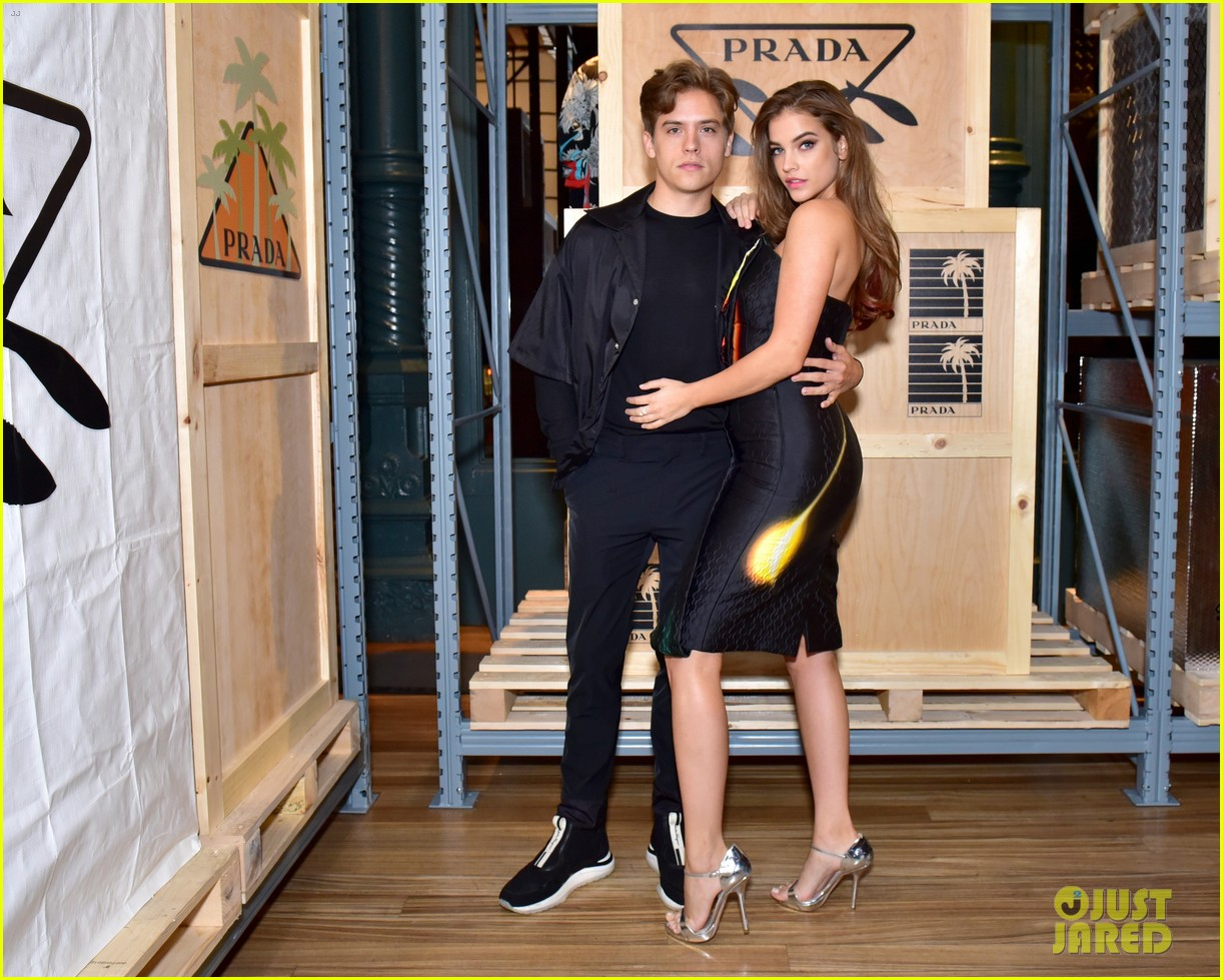 dylan sprouse barbara palvin couple up prada linea rossa launch 01