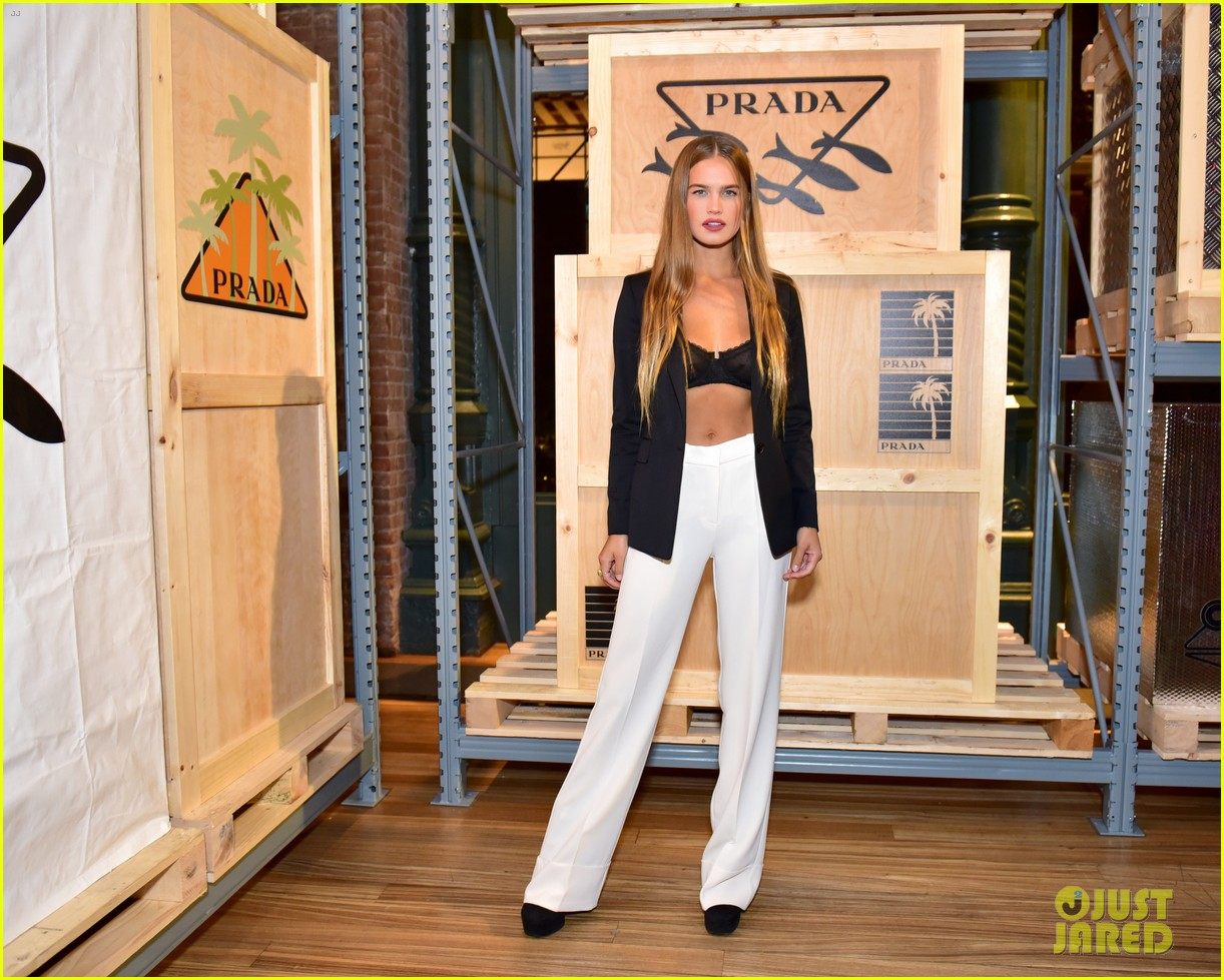 dylan sprouse barbara palvin couple up prada linea rossa launch 04