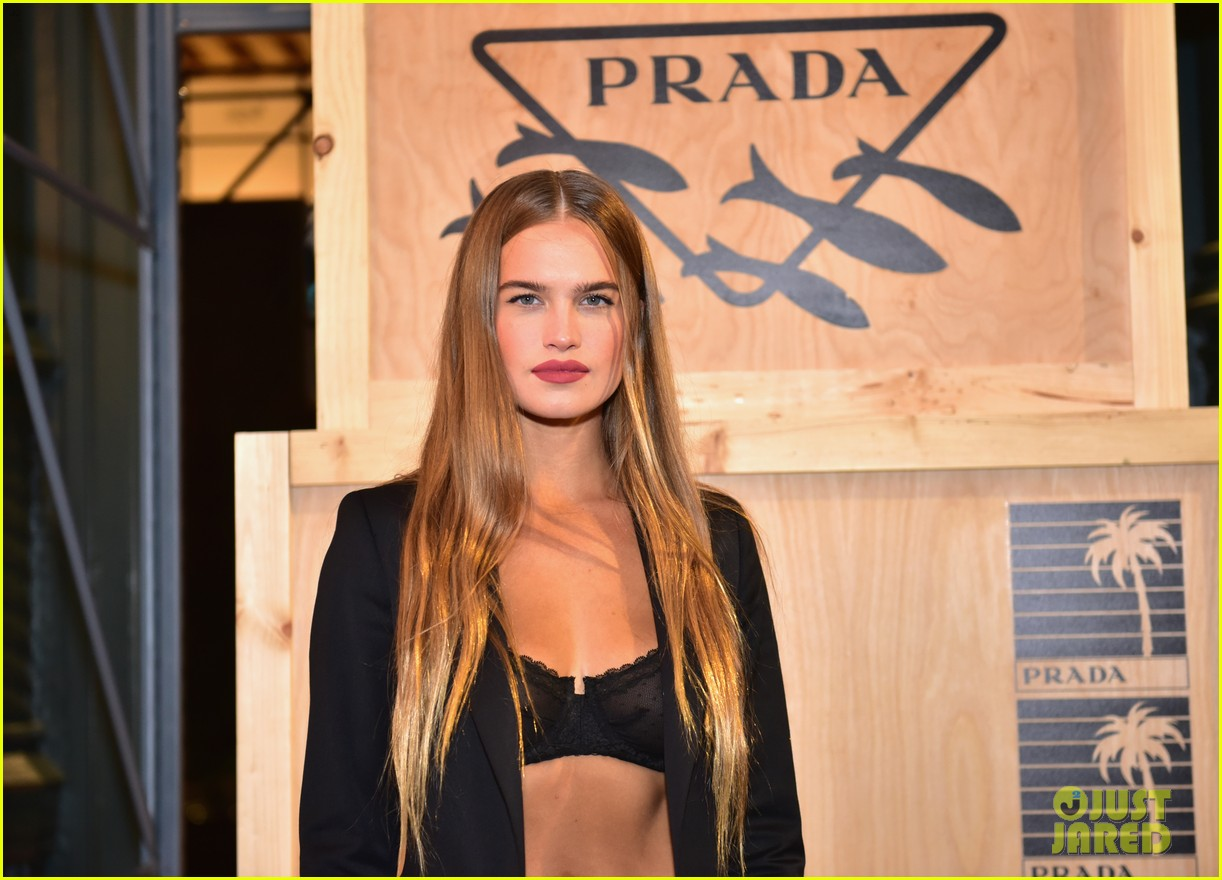 dylan sprouse barbara palvin couple up prada linea rossa launch 15