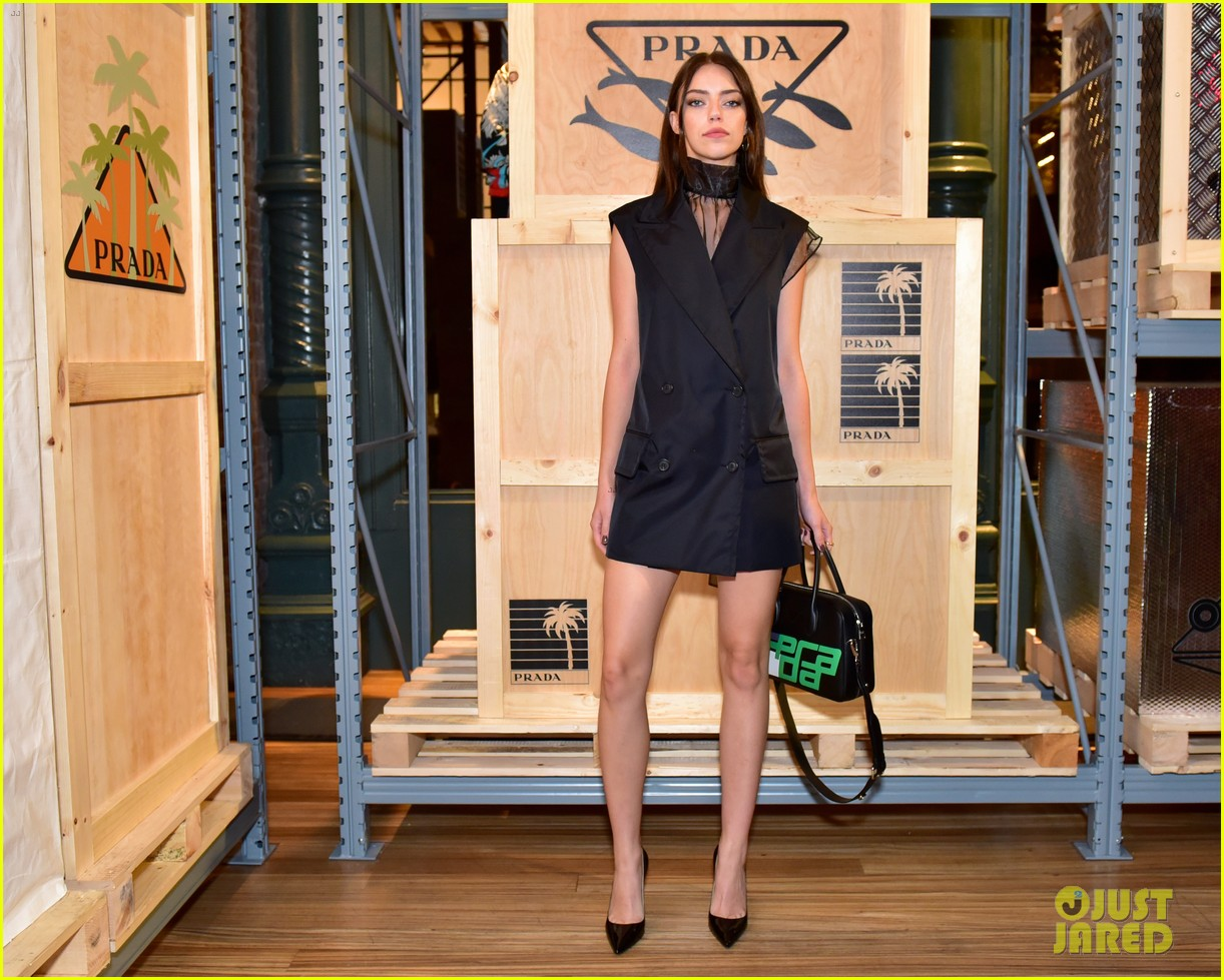 dylan sprouse barbara palvin couple up prada linea rossa launch 16