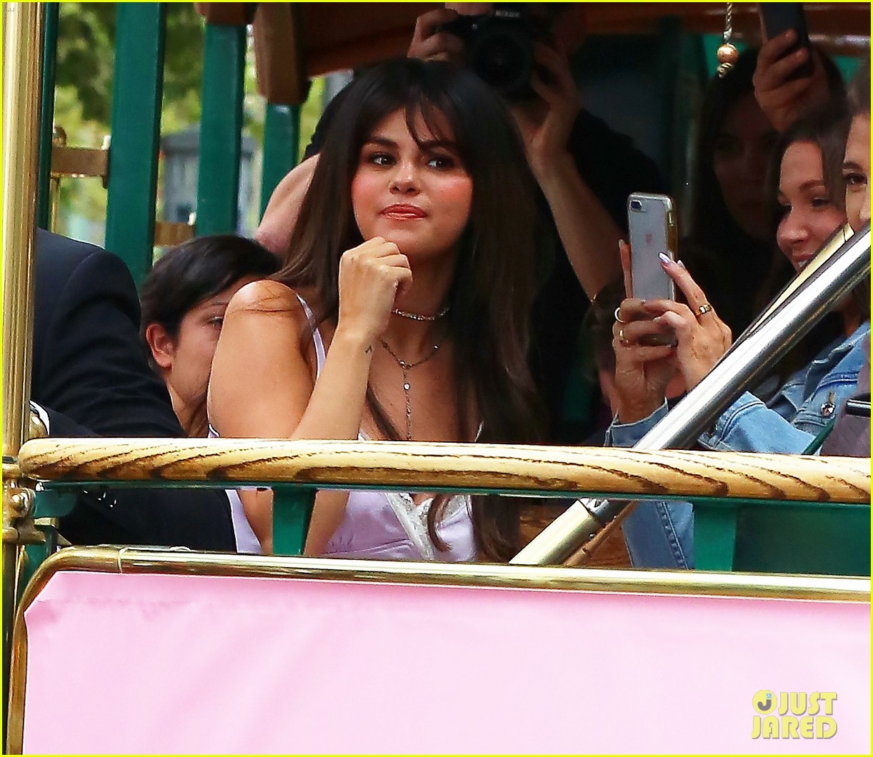 selena gomez arrives at coach pop up launch at the grove2 13