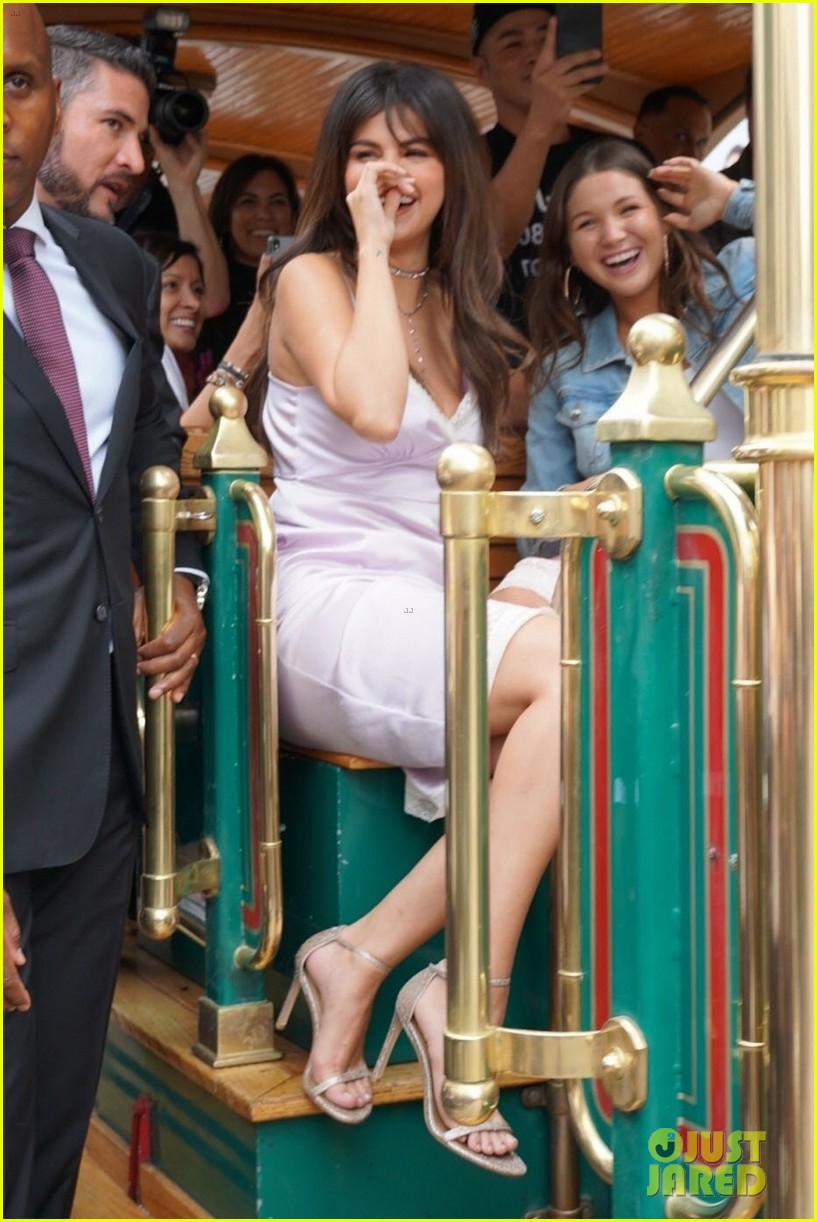 selena gomez arrives at coach pop up launch at the grove2 14