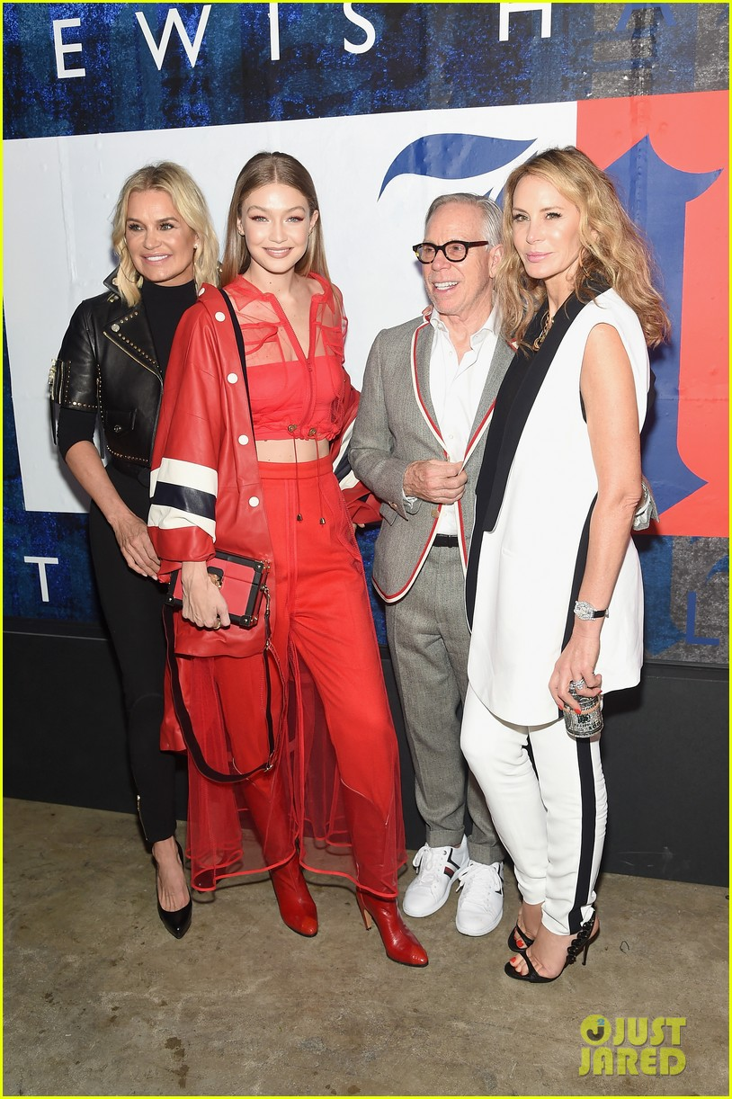 gigi hadid poses with her parents yolanda mohaned tommyxlewis launch party 33