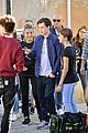 tom holland and zendaya film spider man far from home in the canals in italy44