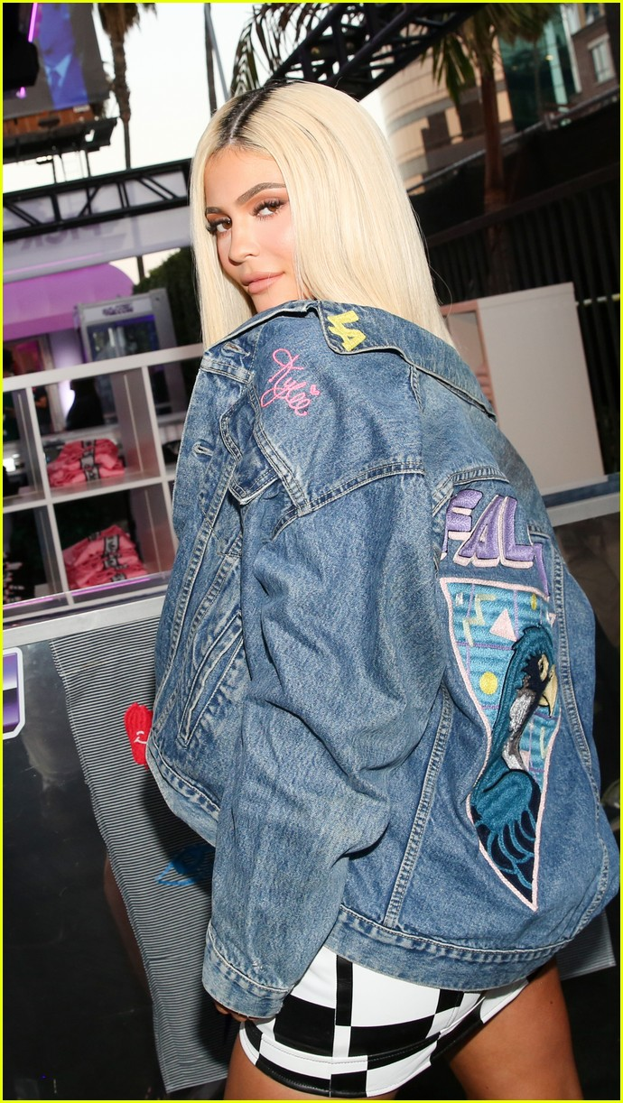 kylie jenner and adidas originals launch falcon sneaker at 90s themed pop up 01