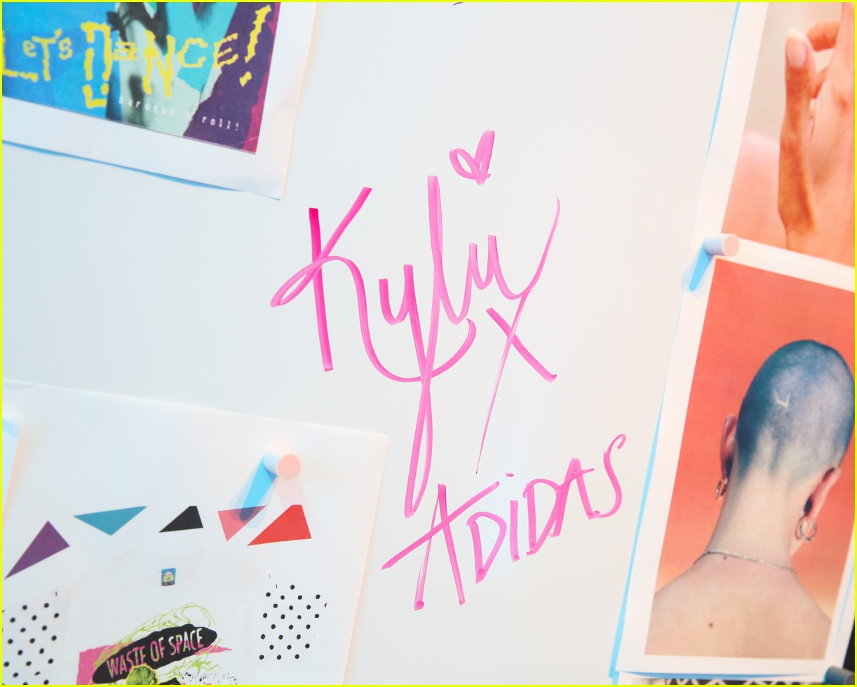 kylie jenner and adidas originals launch falcon sneaker at 90s themed pop up 06