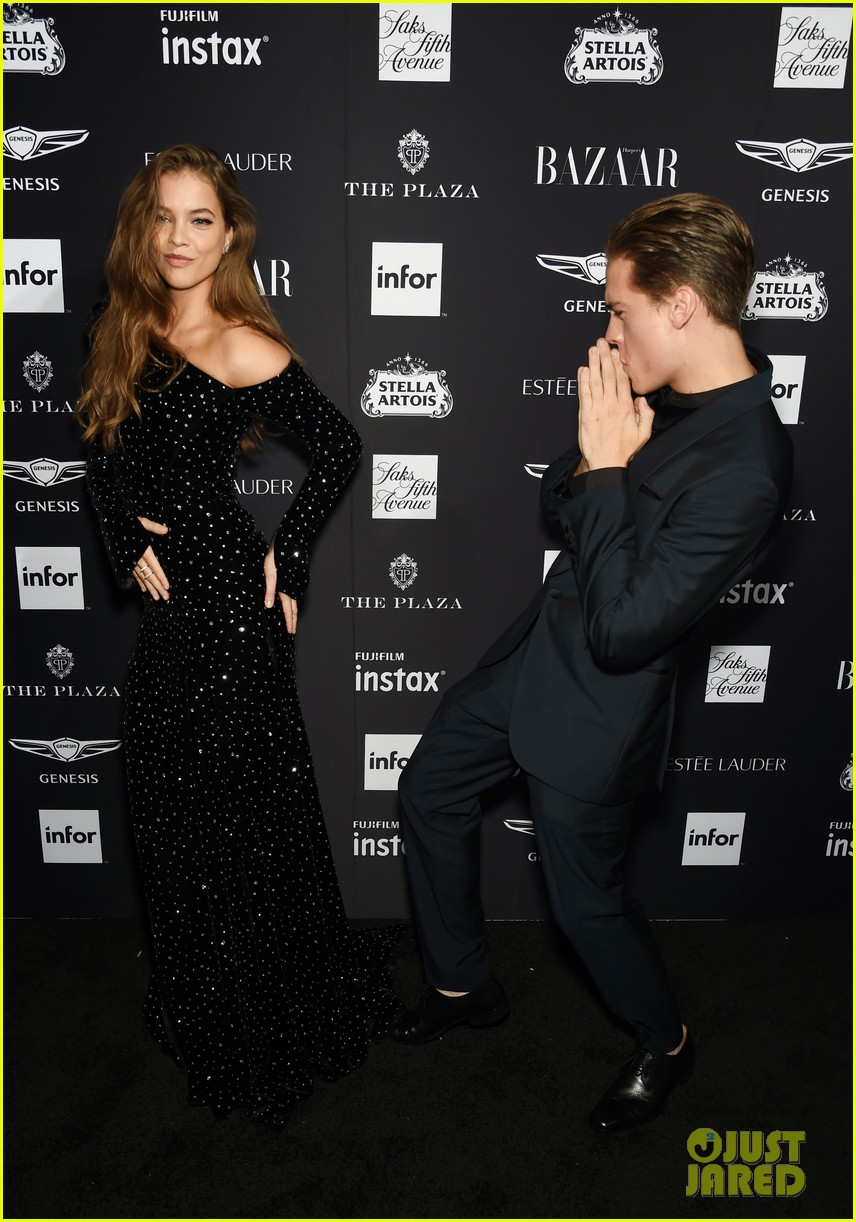 dylan sprouse and barbara palvin are way too cute at harpers bazaar icons event 13