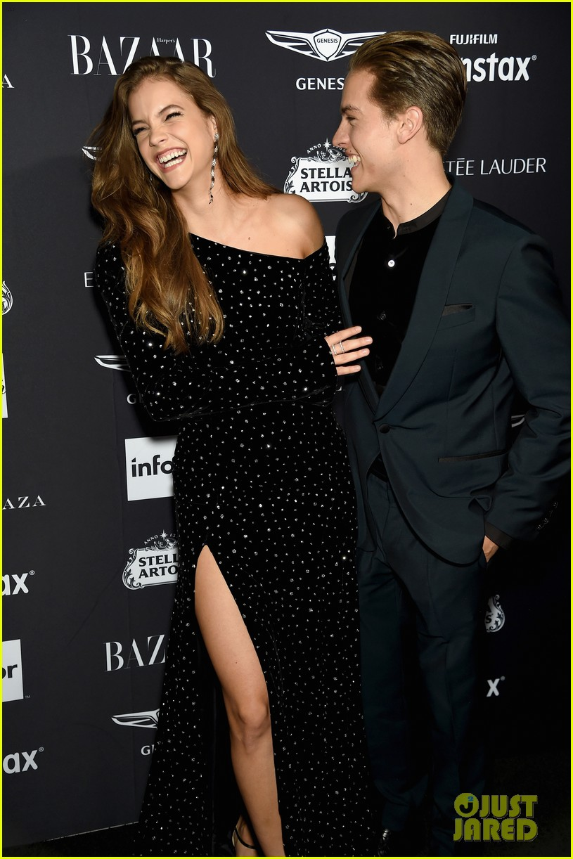 dylan sprouse and barbara palvin are way too cute at harpers bazaar icons event 14
