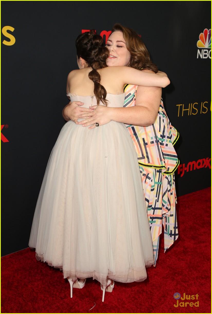 hannah zeile hugs chrissy metz this us premiere 06