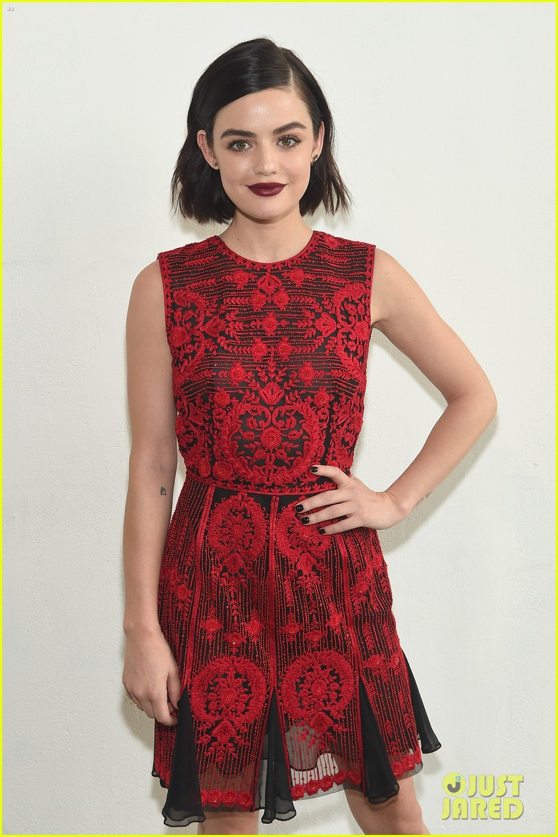 ashley tisdale lucy hale laura marano more watch naeem khan nyfw show 13