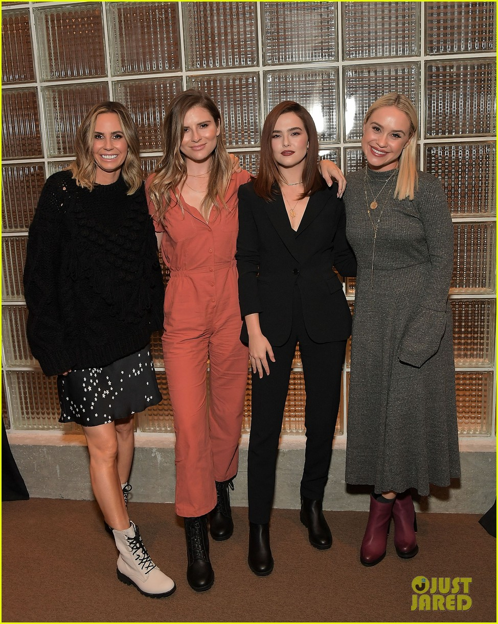 zoey deutch supports ladygang stars at fall podcast party05