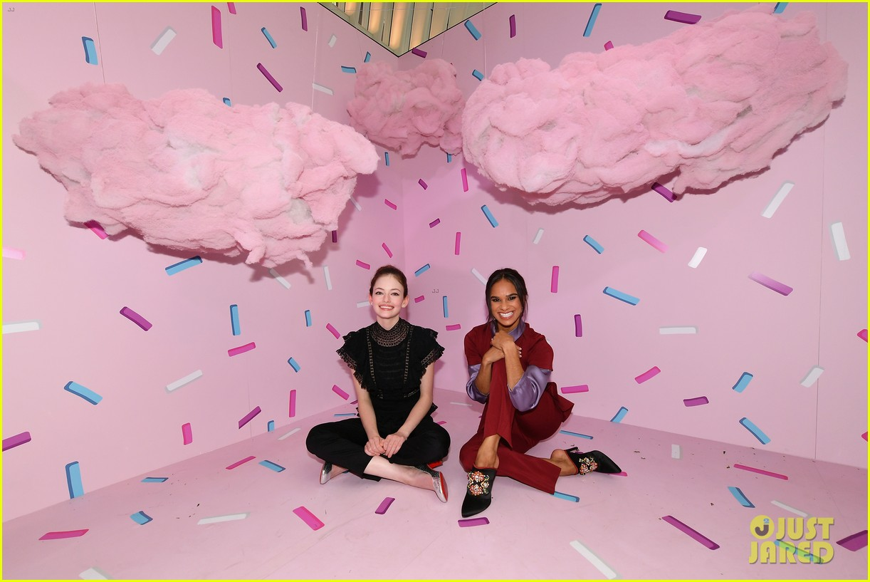 mackenzie foy and misty copeland journey into nutcracker and the four realms at nyc pop up06
