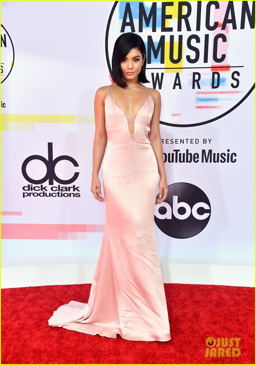 vanessa hudgens goes pretty in pink for american music awards 05