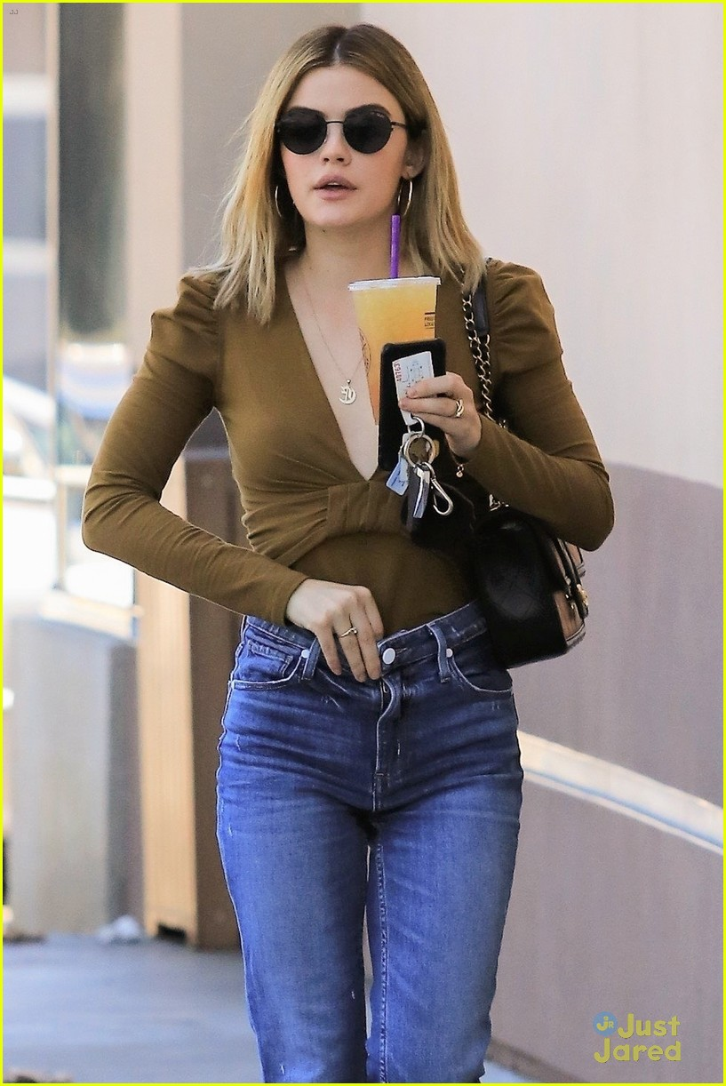 lucy hale blonde again lunch with lo 03