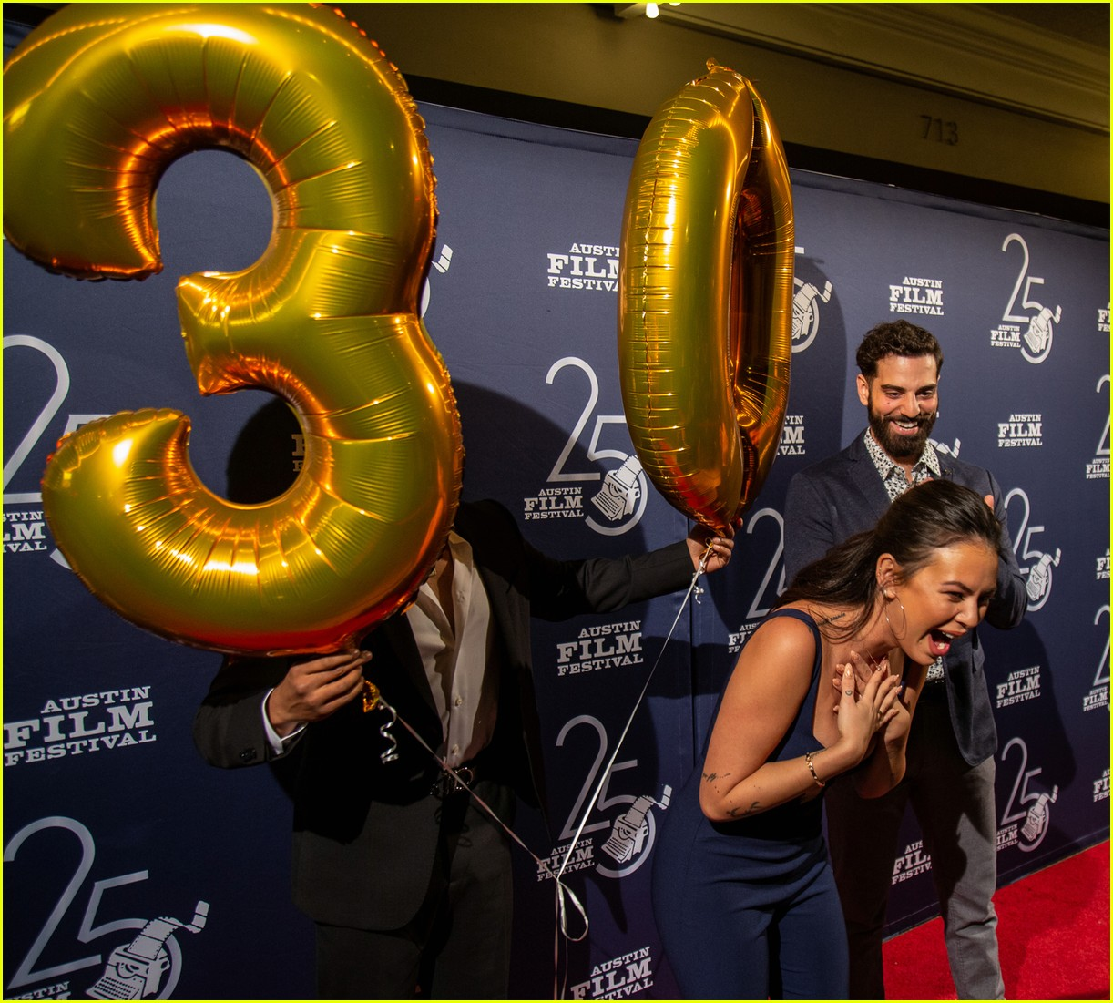 janel parrish gets birthday surprise during tiger screening at austin film festival 04