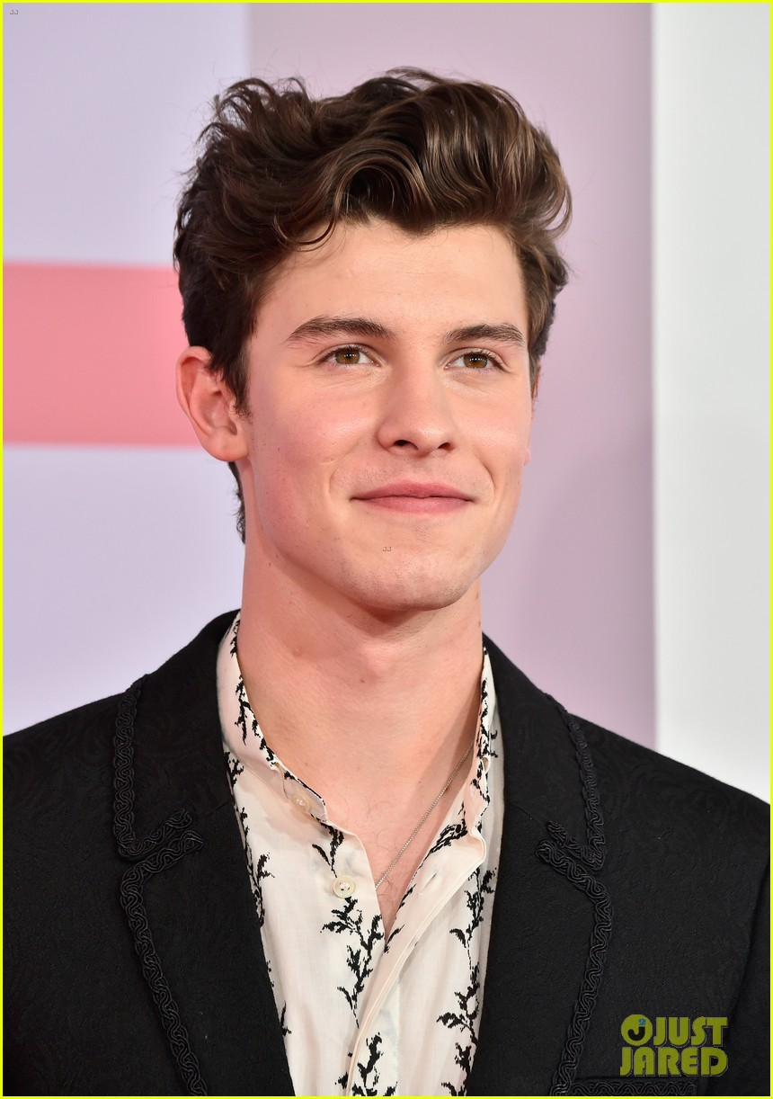 d37d4827b Shawn Mendes Flashes a Peace Sign at American Music Awards 2018 ...