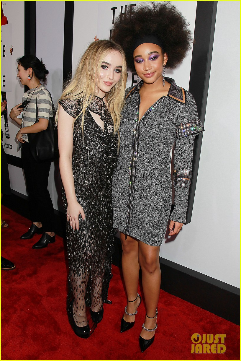 amandla stenberg sabrina carpenter hate u give nyc screening 28