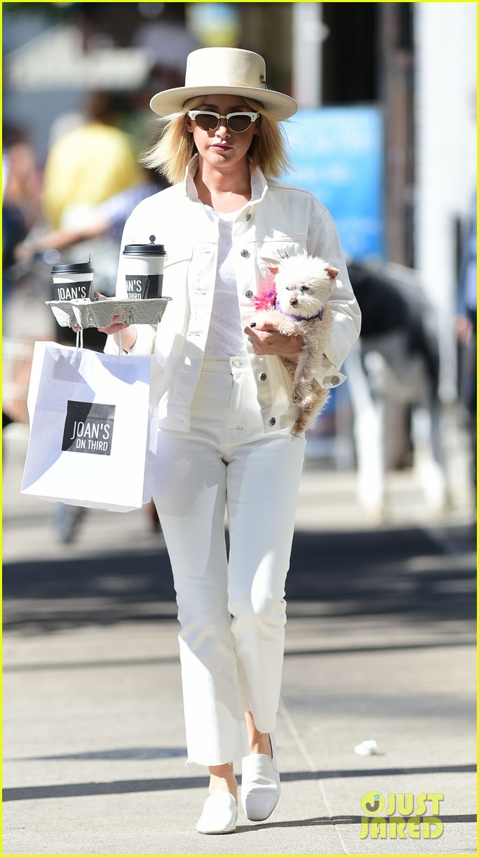 ashley tisdale wears all white while running errands with her pup 05