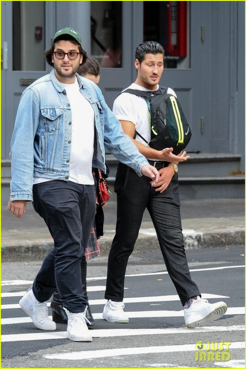 val chmerkovskiy wears his backpack backwards in nyc 03