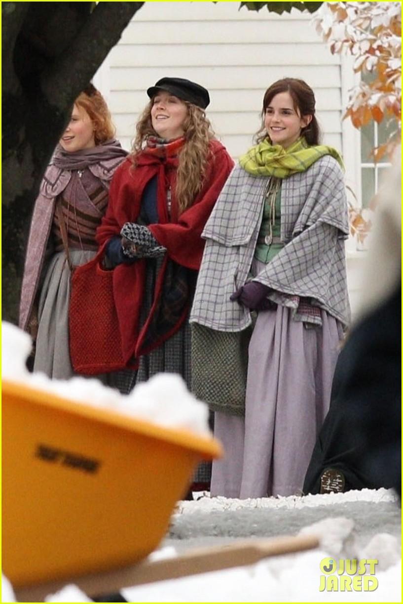 emma watson saoirse ronan four march sisters little women filming 01