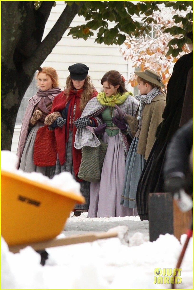 emma watson saoirse ronan four march sisters little women filming 02