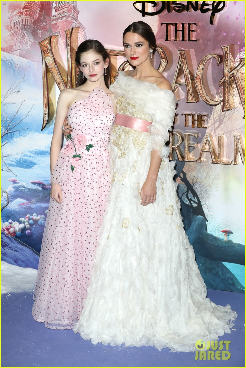 mackenzie foy pink dress keira knightley nutcracker london 11