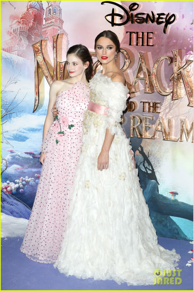 mackenzie foy pink dress keira knightley nutcracker london 13