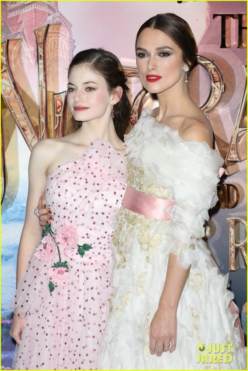 mackenzie foy pink dress keira knightley nutcracker london 14