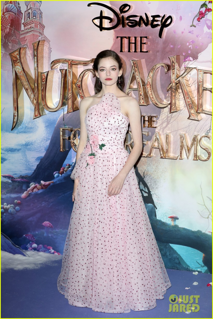 mackenzie foy pink dress keira knightley nutcracker london 25
