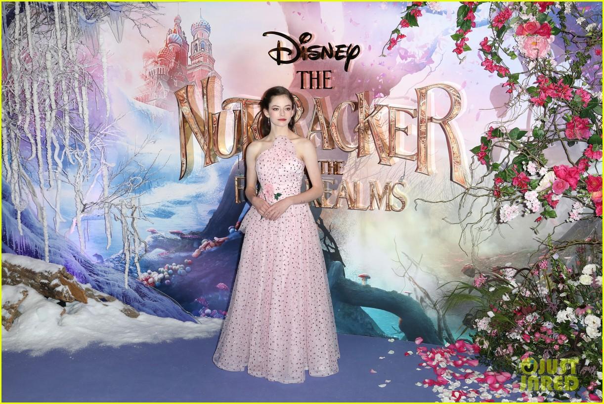 mackenzie foy pink dress keira knightley nutcracker london 27