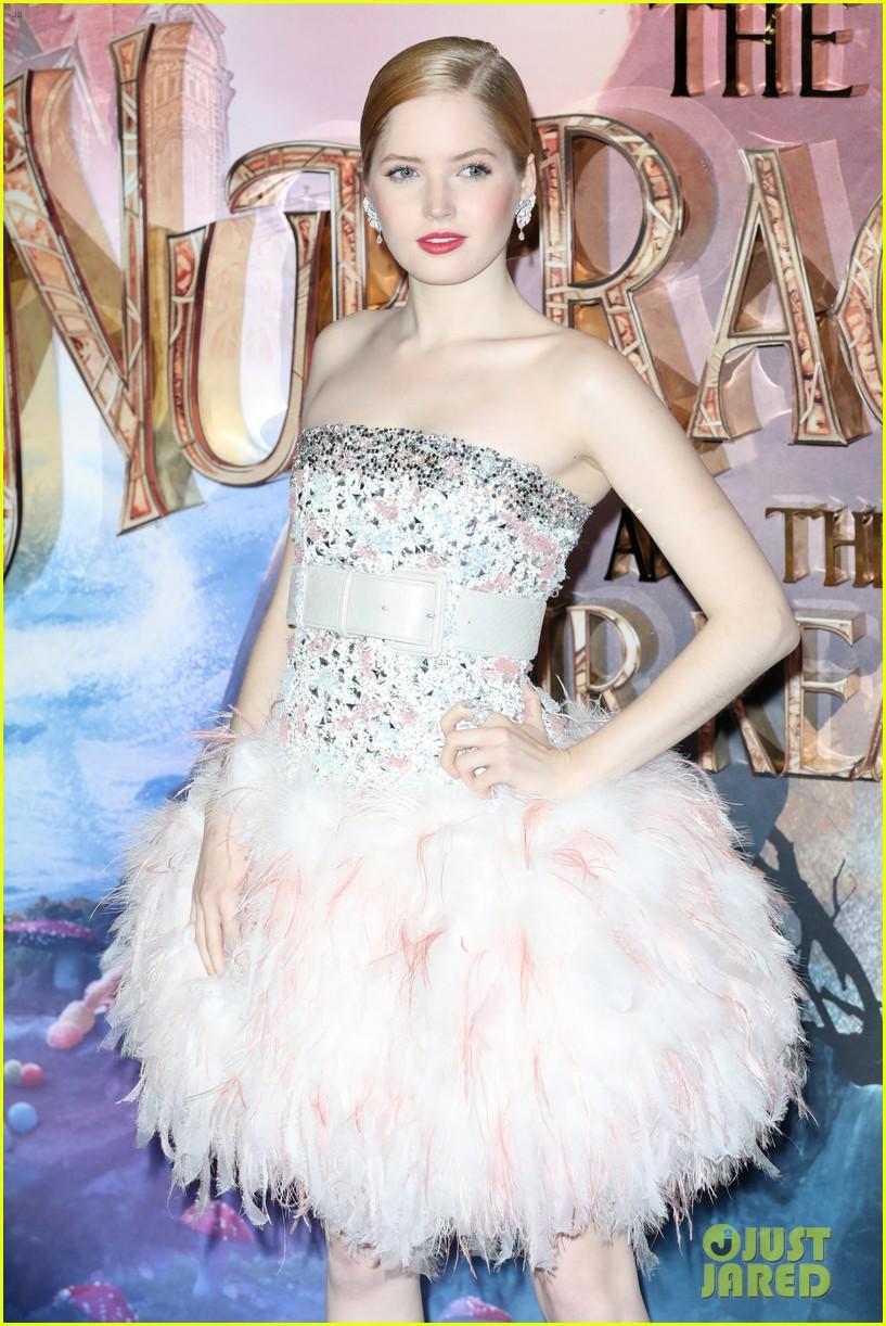 mackenzie foy pink dress keira knightley nutcracker london 33