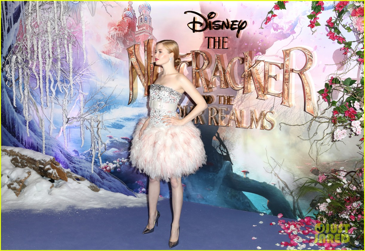 mackenzie foy pink dress keira knightley nutcracker london 34
