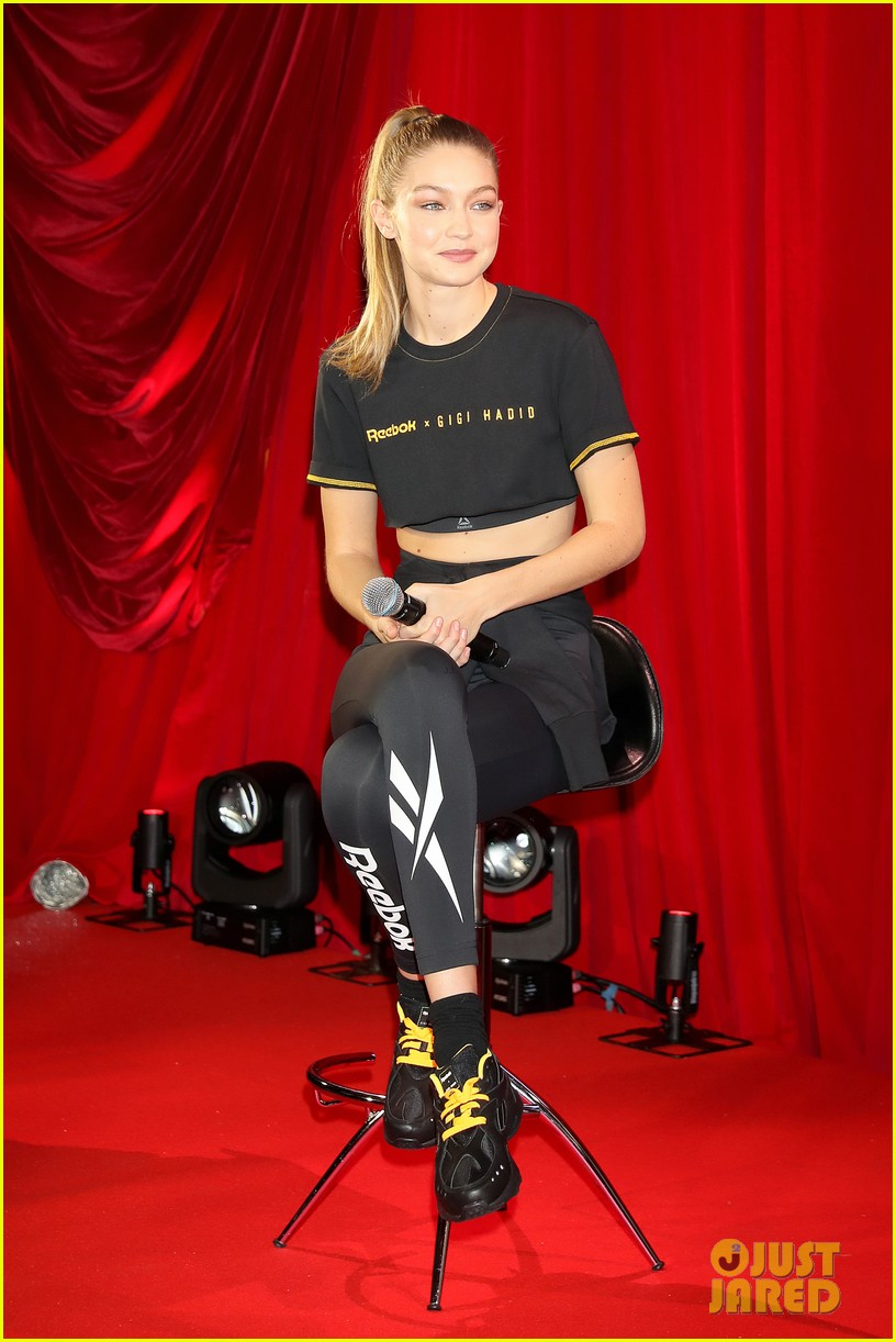 a30acb02eec Gigi Hadid Reveals New Collection With Reebok!